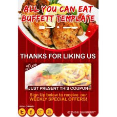MOBILE FRIENDLY OPEN BUFFET RESTAURANT WEBSITE TEMPLATE