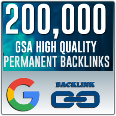 SEO - 200,000 GSA SER, High Quality, Backlinks, GSA Search Engine Ranker