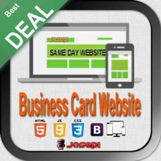 WEB DESIGN - SAME DAY WEBSITE- CUSTOM BUSINESS CARD WEBSITE