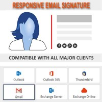 CUSTOM EMAIL SIGNATURE | Responsive Design - Compatible with all Clients