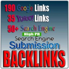 275 SEARCH ENGINE BACKLINKS - SUBMIT YOUR URL - 190 Google Backlinks