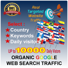 ORGANIC GOOGLE WEB TARGETED TRAFFIC - Country/ Keywords Targeted